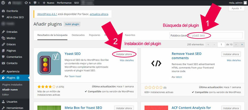 instalar plugins wordpress