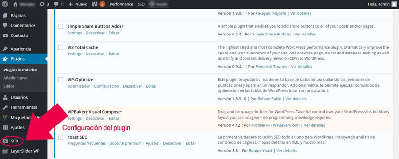 instalar plugin wordpress