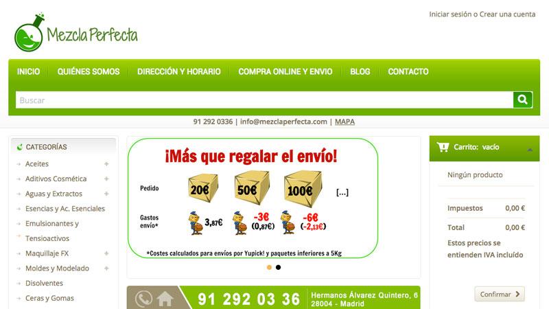 Tienda online Mezcla Perfecta