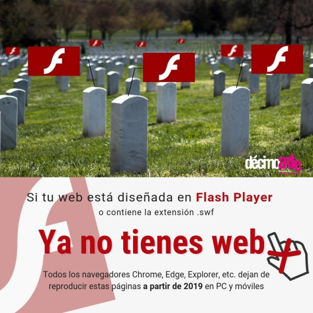 Web Flash desaparecen